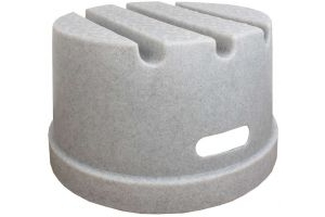 Classic Showjumps Standard 1 Step Mounting Block Mottle Grey