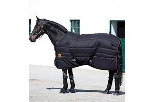 Horseware Rambo Ionic 200g Stable Rug - Black/Black/Orange: 6ft6