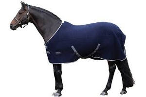 Weatherbeeta Thermic Quilt Cooler Std Neck Rug - Navy/Grey/White: 7ft0