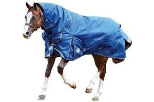 Weatherbeeta Comfitec Ultra Tough Detach-A-Neck Heavy- Blue/Charcoal/White - Size: 6'6