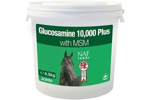 NAF (Natural Animal Feeds) Glucosamine 10,000 Plus With MSM - 4.5KG
