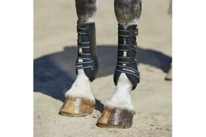 + WeatherBeeta Hard Shell Dressage Protection Boots Black Pair - Full Fit 73,4