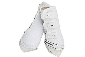 Weatherbeeta Hard Shell Dressage Boots White Full