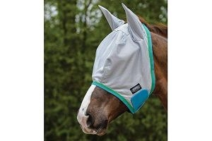 Weatherbeeta Comfitec Essential Mesh Mask (Pony) (Grey/Blue/Bright Green)