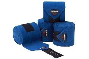 LeMieux Unisex's Fleece Polo Bandages Set of 4, Midnight Blue, Full