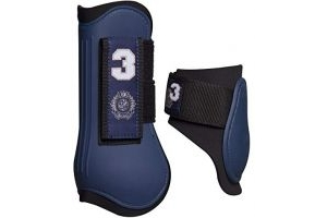 HV Polo Favouritas Tendon and Fetlock Boot Set - Navy Blue: Full