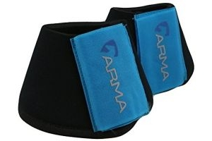 Shires ARMA Neoprene Over Reach Boots-Bright Blue Pony