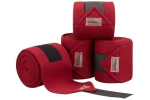 LeMieux Luxury Polo Bandages Burgundy