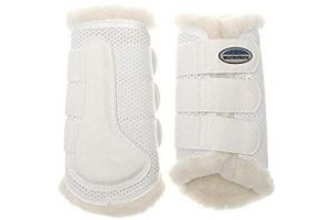 Weatherbeeta Pure Wool Lined Exercise Boots (Warmblood) (White)
