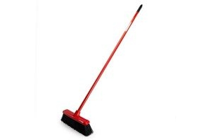 Red Gorilla SP.GRBR.30/R Red 2 in 1 Sweep & Scrape Broom 30cm