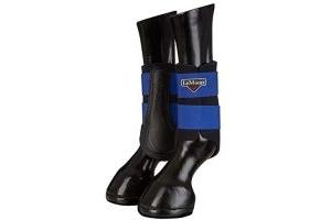 LeMieux Unisex's ProSport Grafter Brushing Boots Pair, Benetton Blue, Large