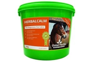 Global Herbs Unisex's Thoroughbred Calmer 1kg, Clear, 1 kg
