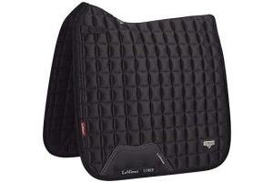 LeMieux Unisex's Loire Classic Satin Dressage Square Black Saddle Pad, Large