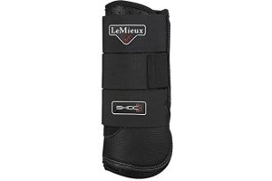 LeMieux Stealth Shoc XC Boots (Hind)  - Black, Small