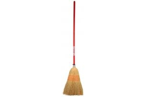 Faulks Corn Broom Large Red