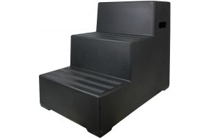 Classic Showjumps Premium 3 Step Mounting Block Black