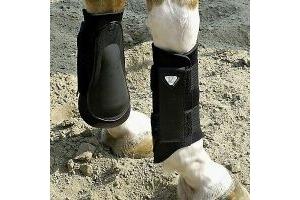 Equilibrium TRI-ZONE Brushing Boots Lightweight Black Extra Large
