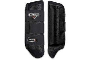 LeMieux Stealth Shoc XC Boots (Hind) - Black, Medium