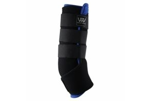 Woof Wear Stable Boots with Bio Ceramic Liners Black and Blue: Small