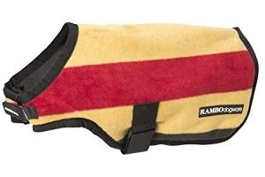 Horseware Rambo Dog Rug Deluxe Whitney Stripe, Small, Gold