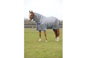 Weatherbeeta Genero Mesh Combo Fly Rug: Grey & Blue: 4 ft 3