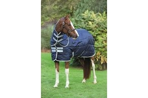 Horseware Amigo Insulator Plus 200g Medium Stable Rug Navy/Silver 5-9