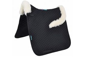 Griffin Nuumed HiWither Everyday with Front And Back Collars Dressage Saddle Pad Large black/natural
