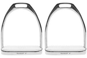 Korsteel Knife Edge Stirrup Irons Saddlery Stainless Steel 4.25 inch Silver