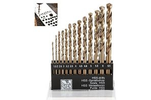 Wrightus Metric M35 Cobalt Steel Twist Drill Bit Set HSS Extremely Heat Resistant with Straight Shank to Cut Through Hard Metals Like A Hot Knife Through Butter,Such as Stainless Steel,Titanium Alloy