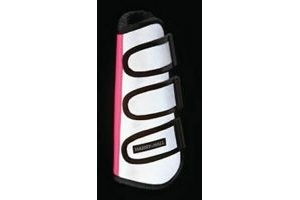 Harry Hall Hi-Viz Wrap Boots Reflective Silver/Pink - COB Silver/Pink [HH5089-MU