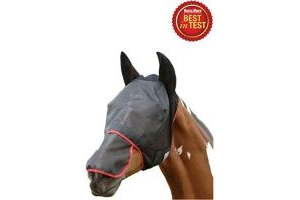 equilibrium Unisex's Field Relief Max Fly Mask-Black/Red, Large