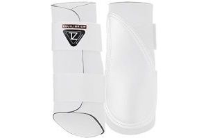 equilibrium Tri-Zone Brushing Boots White Horse Boot Size - L