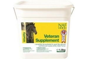 NAF Veteran Horse Pony Supplement - Extra Nutrition For Older Horses - 1.5KG