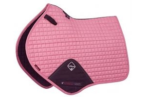 LeMieux Unisex's ProSport Suede Close Contact Square Saddlepad, Blush Pink, Large