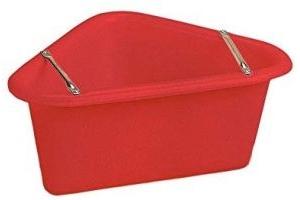 Stubbs Plastic Corner Manger (One Size) (Red)