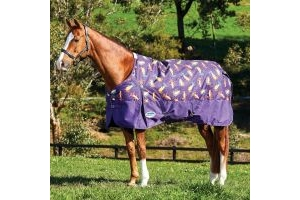 WeatherBeeta ComFiTec Essential 220g Medium Weight Standard Neck Turnout Rug Otter Print
