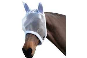 Saxon Fly Mask White Pony