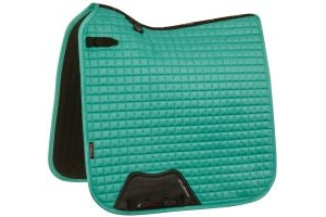LeMieux Suede Dressage Square Saddle Pad Mint