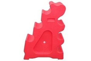 Classic Showjumps Pro-Jump Sloping Block (One Size) (Red)