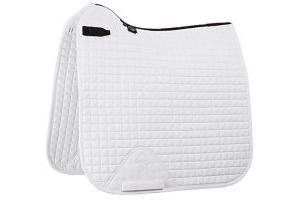 LeMieux ProSport Dressage Square (D-Ring) - White, Medium