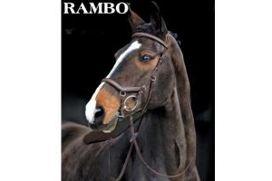 Horseware Rambo Micklem Deluxe Competition Letter English Leather Bridle, Farbe:black, Größe:M