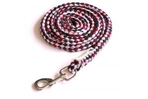 Schockemohle Catch Lead Rope Tobacco/Merlot/Rose