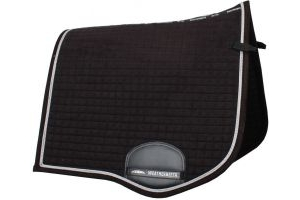 WeatherBeeta Prolux Dressage Saddle Pad Black/Silver