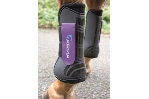 Shires ARMA Tendon Boots - Full-Black/Pink Full