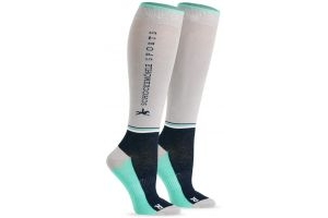 Schockemohle Sporty Knee High Socks Silver