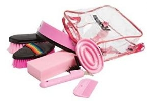 Roma Backpack Grooming Kit 7 Piece Pink