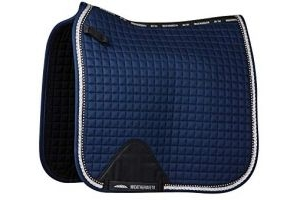 Weatherbeeta Prime Bling Dressage Saddle Pad - Navy Blue: Full