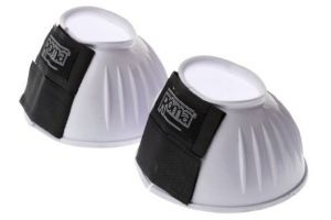 Roma Double Tape Pvc Ribbed Bell Boots - White, Small by Weatherbeeta Usa