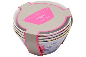 Joules Sable Bowls 4 Pack Whitstable Floral