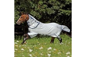 Horseware Ireland Amigo Bug Buster Vamoose Fly Sheet w/Navy Trim 66I